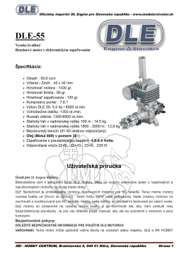 Manual DLE55 SK