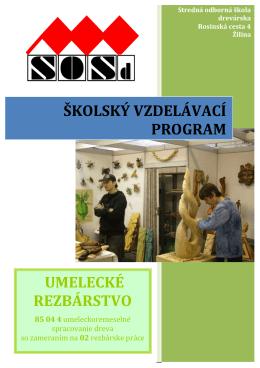 umelecké rezbárstvo školský vzdelávací program