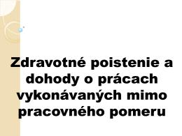 Zmeny v zdravotnom poistení od 01.01.2013