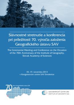 Slávnostné stretnutie a konferencia pri príležitosti 70. výročia