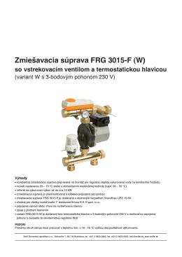 Zmiešavacia súprava FRG 3015-F
