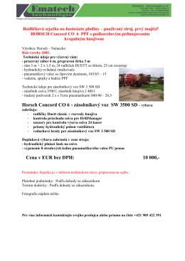 Horsch Concord CO 6 + zásobníkový voz SW 3500 SD