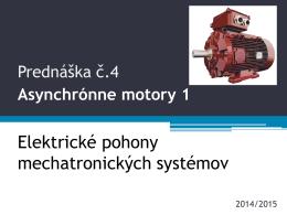 PR4 Asynchrónne motory 1