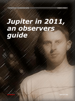 Jupiter in 2011, an Observers Guide