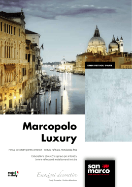 Marcopolo Luxury - Colorificio San Marco