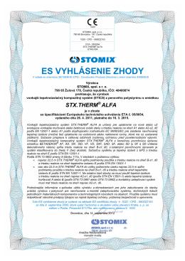 ES vyhlásenie zhody STX.THERM ALFA