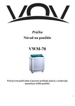 VWM-70 SK manual - dia