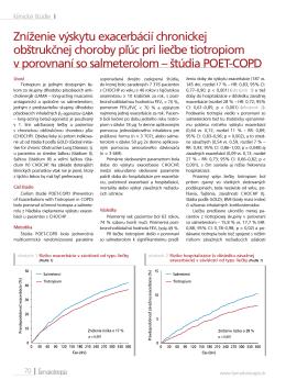 Zníženie výskytu exacerbácií chronickej obštrukčnej choroby pľúc pri