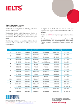 Test Dates 2015