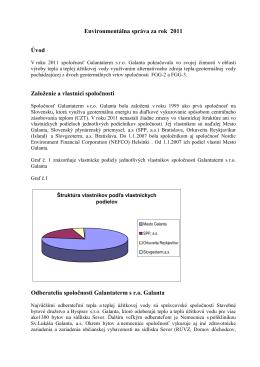 Environmentálna správa za rok 2011