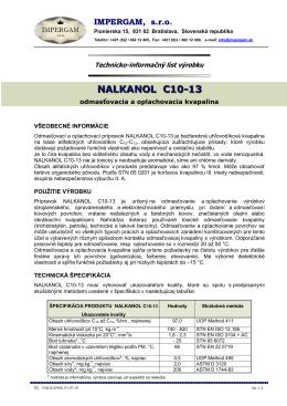 NALKANOL C10-13