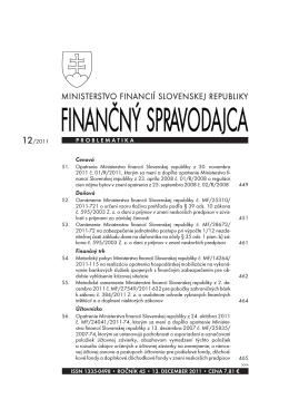 Finančný spravodajca 12/2011