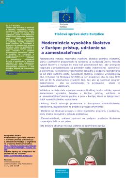 Modernizácia vysokého školstva v Európe - EACEA