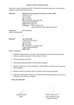 Dohoda o skončení zmluvného vzťahu uzatvorená v zmysle § 536