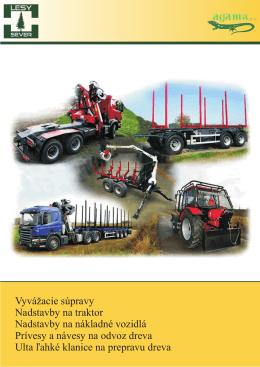 Vyvážacie súpravy Nadstavby na traktor Nadstavby