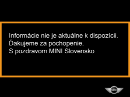 cenník - MINI.com