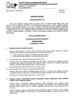 LETECKY URAD SLOVENSKEJ REPUBLIKY CIVIL AVIATION