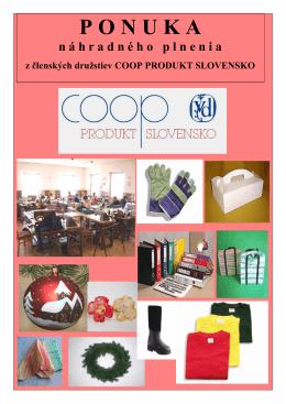 P O N U K A - coop produkt slovensko