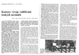 Kontury vývoje vzdělávání českých novinářů