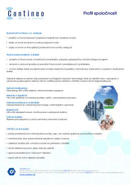 Profil spoločnosti 2014