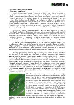 Signalizácia o stave porastov ozimín (30.01.2014