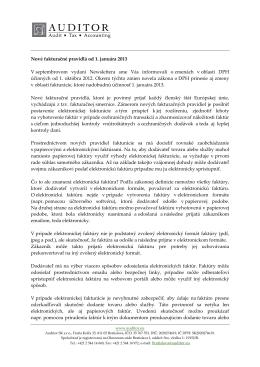 Nové fakturačné pravidlá od 1. januára 2013
