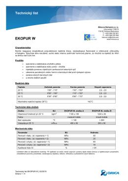 Technický list EKOPUR W