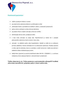 Povinnosti pacientov