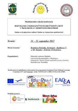 Pozvánka na konferenciu - Materské centrum Budatko!