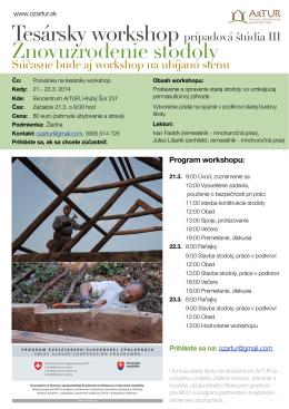 Tesarsky workshop