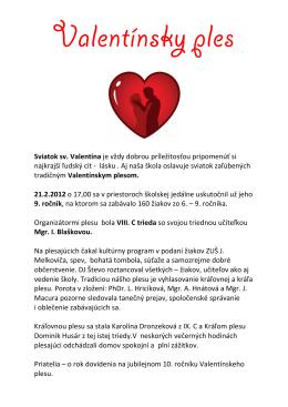 valentinsky ples