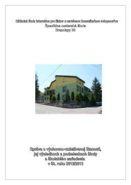 HS 2012-2013 - Škola Základná škola internátna pre žiakov s