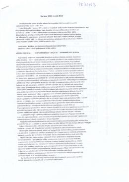 Správa OLH za rok 2014