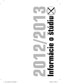 2012/2013 Informácie o štúdiu - Katolícka univerzita v Ružomberku