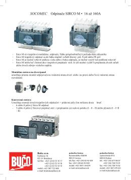 SOCOMEC Odpínače SIRCO M • 16 až 160A
