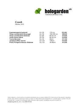 Aktuálny cenník (.pdf)