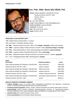 Doc. PhDr. RNDr. Martin BOLTIŽIAR, PhD.