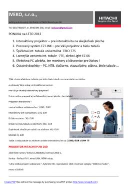 IVEKO, s.r.o., - Interaktívna tabuľa