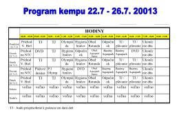 Program kempu leto 2013