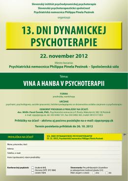13. dni dynamickej psychoterapie