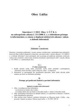 Smernica o slobodnom prístupe k informáciám
