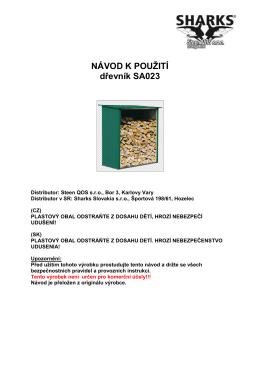 dřevník - manuál SA023 - naradi