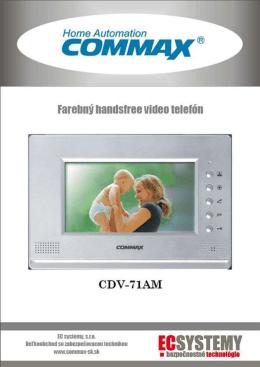 COMMAX CDV-71AM Inštalačný manuál 2013, EC