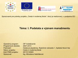 Prezentácia programu PowerPoint