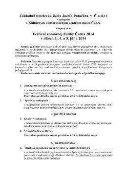 Základná umelecká škola I v Č a d c i