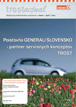 Poisťovňa GENERALI SLOVENSKO - partner servisných