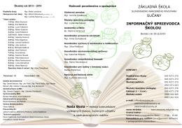 šk. rok 2013-2014 - Základná škola Slovenského národného