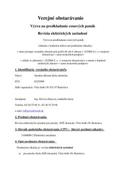 Revízia elektrických zariadení (pdf)