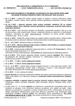 Základné informácie.pdf - Základná škola, Komenského 6, Sobrance