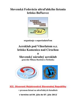 Slovenská Federácia ultraľahkého lietania letisko Boľkovce